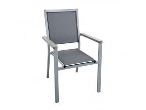 VIOLA Λευκή Πολυθρόνα Αλουμινίου