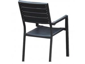 BLACK BUTTERFLY Πολυθρόνα Αλουμινίου-Polywood