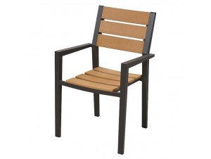 TEL AVIV Πολυθρόνα Αλουμινίου-Polywood