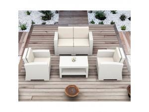 Καθιστικό κήπου Monaco White