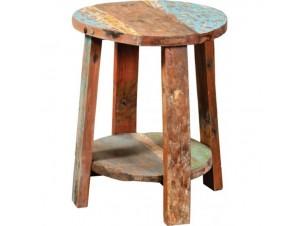 Σκαμπό χειροποίητο από παλιά ξύλα Teak