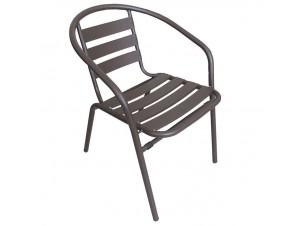 Πολυθρόνα αλουμινίου καφέ