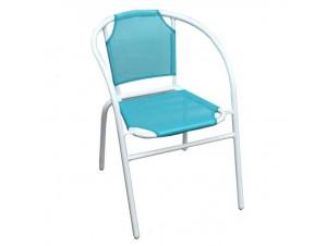 Πολυθρόνα αλουμινίου Γαλάζια
