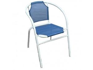 Πολυθρόνα αλουμινίου Μπλε ραφ