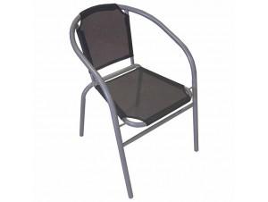Πολυθρόνα αλουμινίου Μαύρη