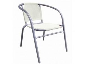 Πολυθρόνα αλουμινίου Κρεμ