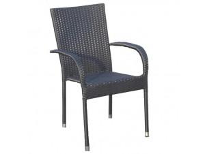 Πολυθρόνα Wicker Μαύρη