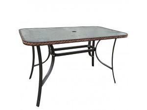 Τραπέζι Κήπου Μεταλλικό με Rattan