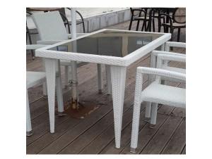 Τραπέζι Κήπου Kenya Λευκό