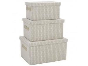 Διακοσμητικά υφασμάτινα κουτιά Set/3
