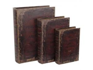 """Κουτί/ Βιβλίο """"ARISTOTLE"""" Set/3"""