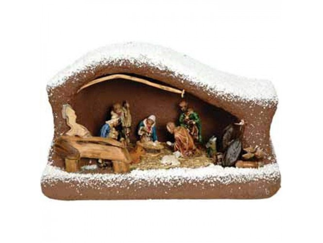 Χριστουγεννιάτικη Φάτνη Συνθετική Χιονισμένη