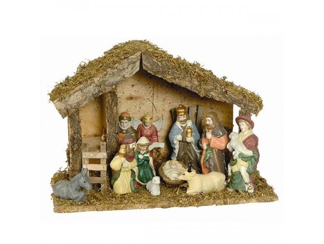 Χριστουγεννιάτικη Φάτνη ξύλινη