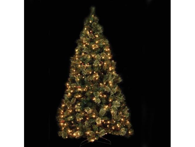 Χριστουγεννιάτικο Δέντρο χιονέ με λαμπάκια 2,25