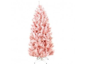 Ροζ χριστουγεννιάτικο Δέντρο SLIM 210 εκατ. -