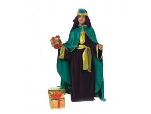 Παιδική στολή μάγος με μπέρτα πράσινη
