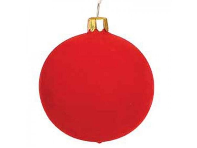 Κόκκινη Χριστουγεννιάτικη Γυάλινη Μπάλα - 8771