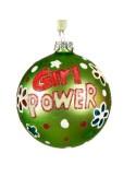 Παιδική Χριστουγεννιάτικη πολύχρωμη μπάλα γυάλινη