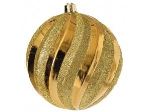 Χρυσή Χριστουγεννιάτικη Άθραυστη Μπάλα