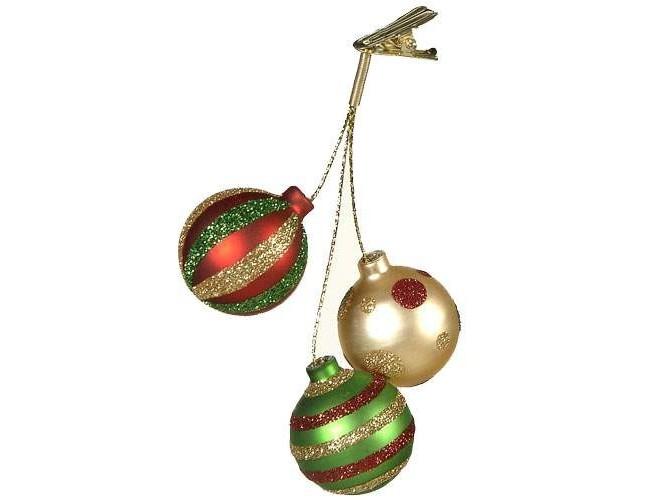 Χριστουγεννιάτικο παιδικό στολίδι μπάλες