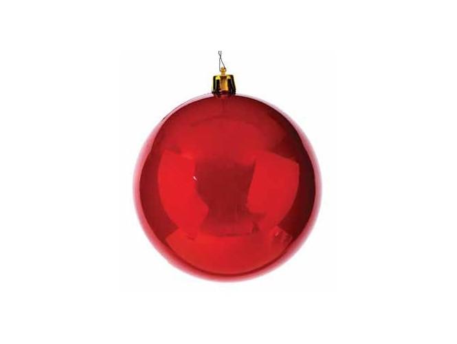 Κόκκινη πλαστική Χριστουγεννιάτικη Μπάλα