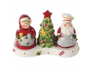 Χριστουγεννιάτικο δοχείο αλάτι - πιπέρι