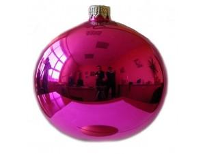 Χειροποίητη Φούξια Χριστουγεννιάτικη Μπάλα