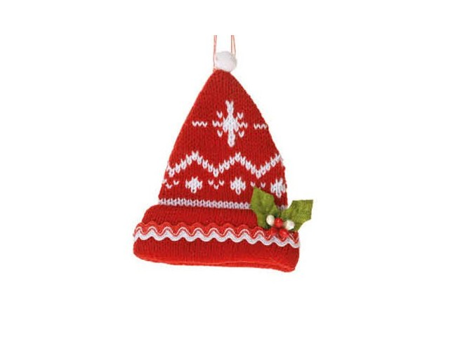 Χριστουγεννιάτικο υφασμάτινο σκουφάκι
