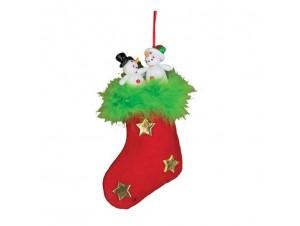 Χριστουγεννιάτικη κάλτσα στολίδι