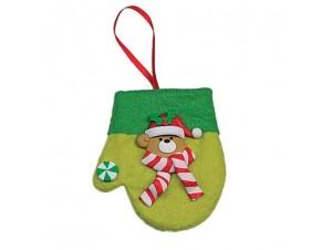 Χριστουγεννιάτικο γαντάκι στολίδι
