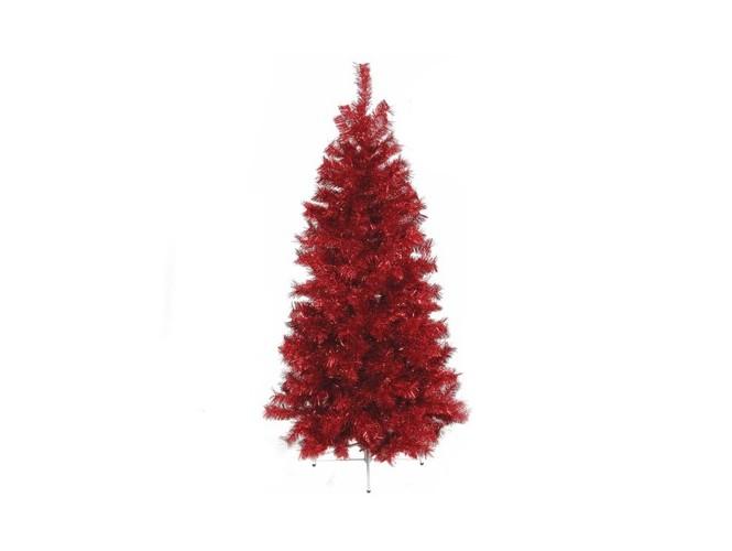 Κόκκινο χριστουγεννιάτικο Δέντρο SLIM 210 εκατ.