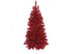 Κόκκινο χριστουγεννιάτικο Δέντρο SLIM 180 εκατ.