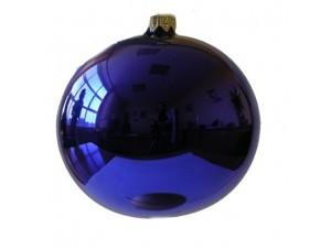 Μπλε γυάλινη Χριστουγεννιάτικη Μπάλα
