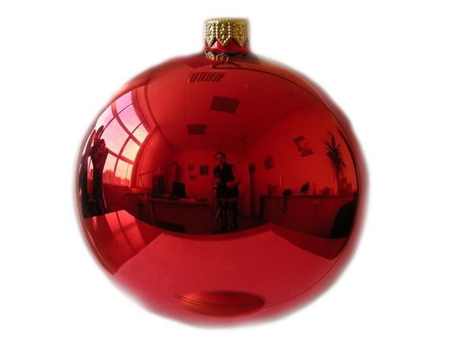 Χειροποίητη γυάλινη Χριστουγεννιάτικη Μπάλα