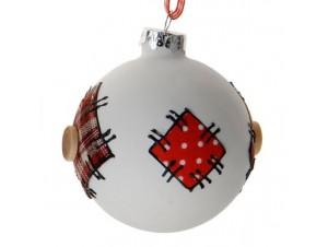 Παιδική Χριστουγεννιάτικη πολύχρωμη μπάλα γυάλινη 13827
