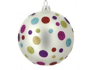 Πολύχρωμη μπάλα γυάλινη