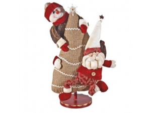 Αγιος Βασίλης και Χιονάνθρωπος σε δέντρο