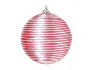 Ροζ Χριστουγεννιάτικη Μπάλα