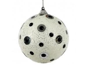 Άσπρη Χριστουγεννιάτικη Μπάλα 10 ek