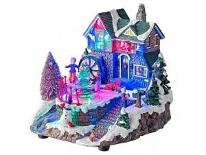Χριστουγεννιάτικο σπιτάκι φωτιζόμενο 20x20x20 εκ