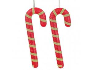 Σετ 2 τεμ. Χριστουγεννιάτικο στολίδι γλυφιτζούρι