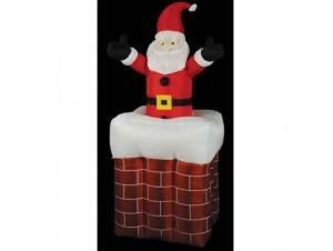 Φωτιζόμενος Άγιος Βασίλης σε καμινάδα