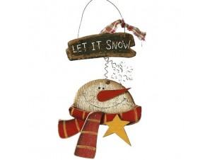 Ξύλινο στολίδι Χιονάνθρωπος