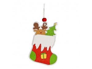 Σετ 3 τεμ.Χριστουγεννιάτικα Ξύλινα στολίδια