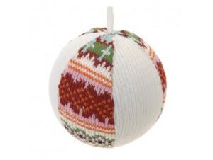 Χριστουγεννιάτικη πολύχρωμη υφασμάτινη μπάλα