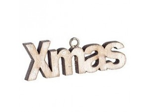 Χριστουγεννιάτικο οικολογικό ξύλινο στολίδι XMAS