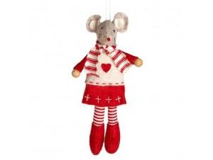Χριστουγεννιάτικο παιδικό στολίδι ποντικάκι