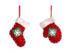 Σετ 2 τεμ. Χριστουγεννιάτικο παιδικό στολίδι