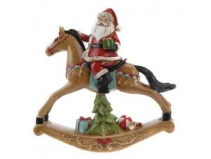 Χριστουγεννιάτικο διακοσμητικό Αγ.Βασίλης σε αλογάκι