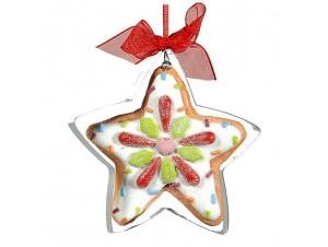 Χριστουγεννιάτικο στολίδι ζαχαρωτό αστέρι